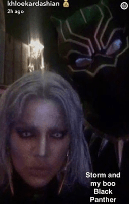 Khloe Kardashian and Tristan Thompson kissing at a Halloween party